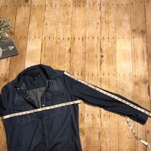 White House Black Market Dresses - White House Black Market Chambray Dress- Size 4